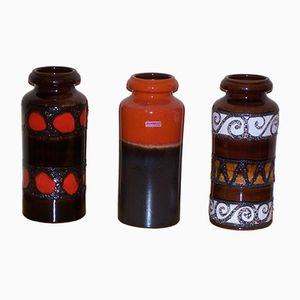 Vintage Model 517-30 Vases from Scheurich, Set of 3