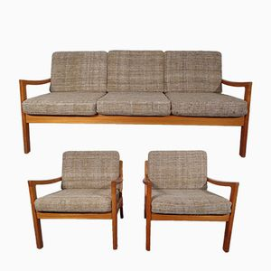 Mid-Century Senator Teak Living Room Set by Ole Wanscher for Cado