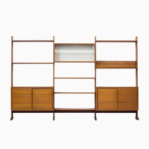 Triple- Sectioned Teak Bookshelf from String AB, 1968