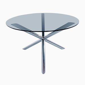 couchtisch aus glas und stahl 1970er 1 428 00 vintage tisch und. Black Bedroom Furniture Sets. Home Design Ideas