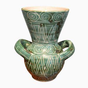 Französische Keramik Vase von Robert Picault