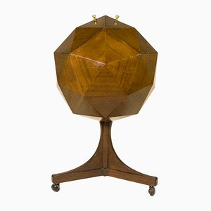 Italian Polyhedron Mahogany Bar, 1955