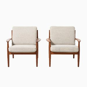 Lounge Chairs by Grete Jalk for France and Søn, 1950s, Set of 2