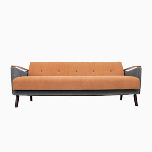 Bicolor Daybed in Apricot and Blue-Grey, 1950s