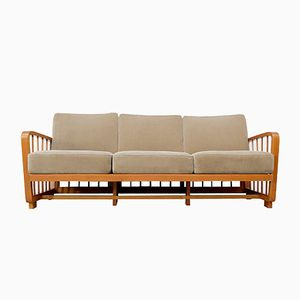 Vintage Kirschholz Sofa, 1950er