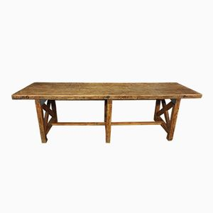 Vintage Spanish Wooden Work Table, 1930s