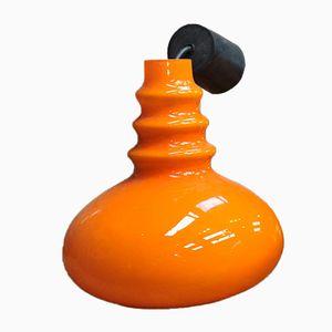 Vintage Orangenfarbene Lampe von Pultzer, 1970er