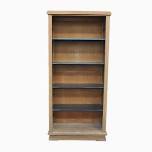 Oak and Metal Shelving Unit