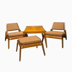 Mid-Century German Seating Set, Set of 4