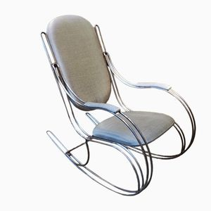Rocking Chair Vintage Grise, 1960s