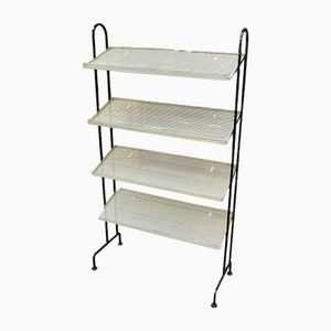 Vintage Metallic Unit with Four Removable Shelves