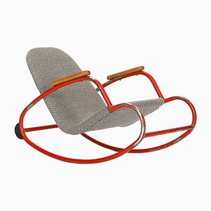 Children's Bent Steel Tubular Rocking Chair, 1960s