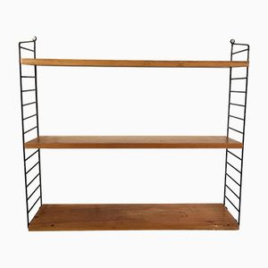 Vintage Swedish Modular Wall Unit with Three Shelves by Nisse Strinning for String
