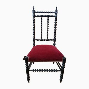 Antique French Napoleon III Style Knitting Chair