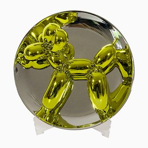 Assiette Jaune Balloon Dog par Jeff Koons for Bernardaud, France, 2015