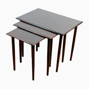 Danish Modern Rosewood Nesting Tables, Set of 3