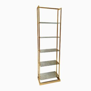 Modern Gilt Metal Bookcase