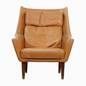 Vintage Danish Cognac Leather Lounge Chair