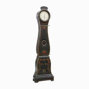 Antique Swedish Painted Floral Mora Clock