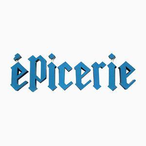 Französische Vintage Epicerie Buchstaben