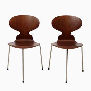Mid-Century 3100 Ant Chairs von Arne Jacobsen für Fritz Hansen, 2er Set