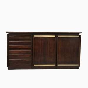 Italian Rosewood & Brass Credenza, 1960s