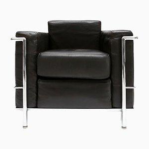 Vintage LC2 Armlehnstuhl von Le Corbusier, Jeanneret und Perriand für Cassina