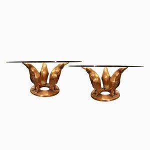 Vintage Cocktail Tische aus Bronze von J. D'aste, 2er Set