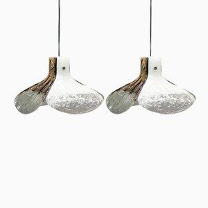 Mazzega Murano Glass Pendants by Carlo Nason for Kalmar, Set of 2