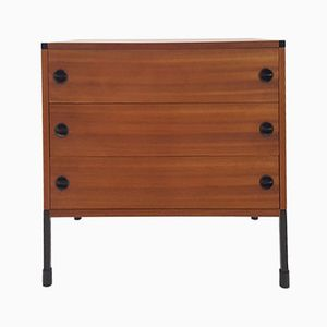 Mahogany & Metal Commode by ARP for Minvielle, 1960s