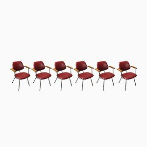 Mid-Century Dining Chairs by W. H. Gispen for Kembo, Set of 6