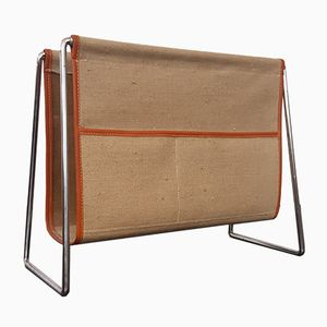 Bachelor Canvas Magazine Rack by Verner Panton for Fritz Hansen, 1960s