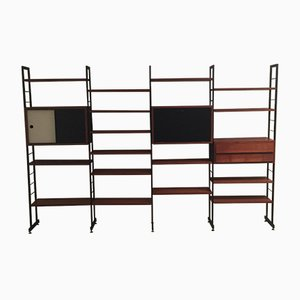 Italian Teak, Iron & Laminate Bookshelf, 1960s
