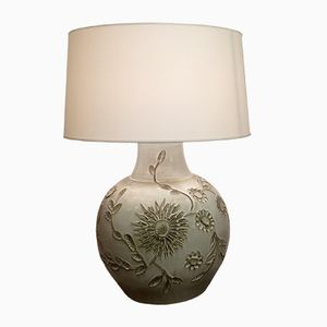 Large Ceramic Lamp by Huguette Bessone, 1960s