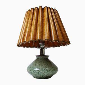 Vintage German Art Deco Ikora Glass Table Lamp by Karl Wiedmann for WMF