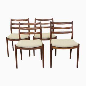 Dänische Mid-Century Esszimmerstühle von Arne Vodder für France & Søn, 4er Set