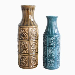 German Pottery Vases from Bay, Set of 2
