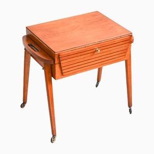 Wooden Sewing Basket, 1960s