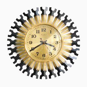 Vintage Weimar Starburst Wall Clock, 1960s