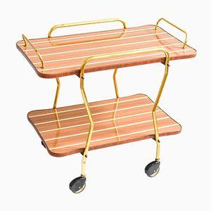 Formica & Brass Bar Cart, 1960s