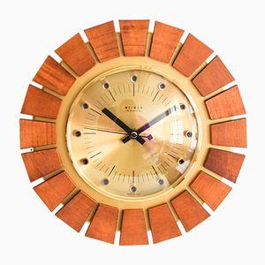 Weimar Uhr aus Teak & Messing, 1960er