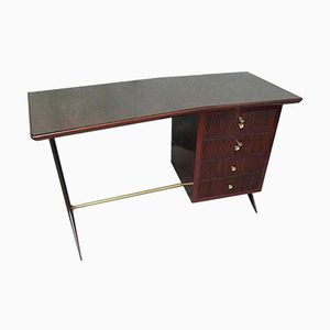 Vintage Rosewood Desk with 4 Drawers, 1950s