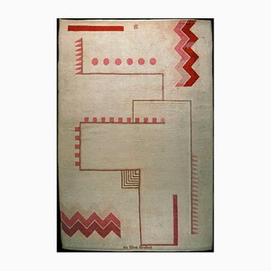 Hand-Knotted Rug by Ivan da Silva Bruhns for Manufacture de Savigny, 1920s