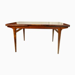 Danish Rosewood Dining Table with Extension Leaves