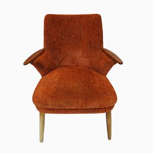 Brown Danish Lounge Chair, 1960s