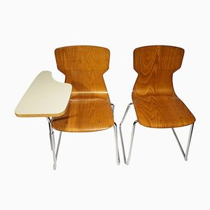Danish School Chairs, Set of 2