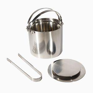Cylinda Line Ice Bucket & Tongs by Arne Jacobsen for Stelton