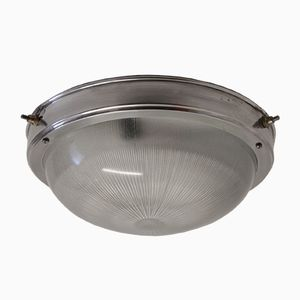 Vintage French Industrial Ceiling Light from Holophane