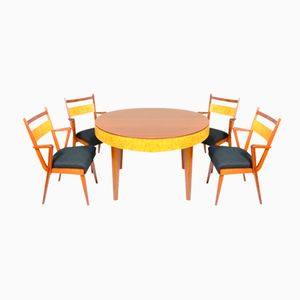 Extendable Dining Table & Four Chairs from Nabytkarny Stod, 1970s