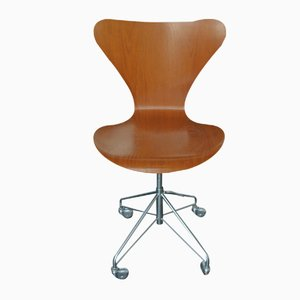 3117 Teak Swivel Chair by Arne Jacobsen for Fritz Hansen, 1964